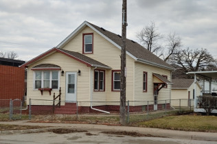 AWESOME RIVER VIEW322 Front StreetBuffalo, Iowa Rent to Own for $1,049 per month (including taxes & insurance)3 Bedrooms, 1 Bathroom, Huge 2 Car Garage